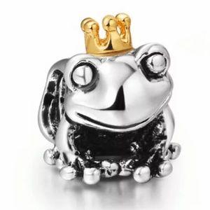 NEW•Frog Prince 925 silver DIY charm/bead